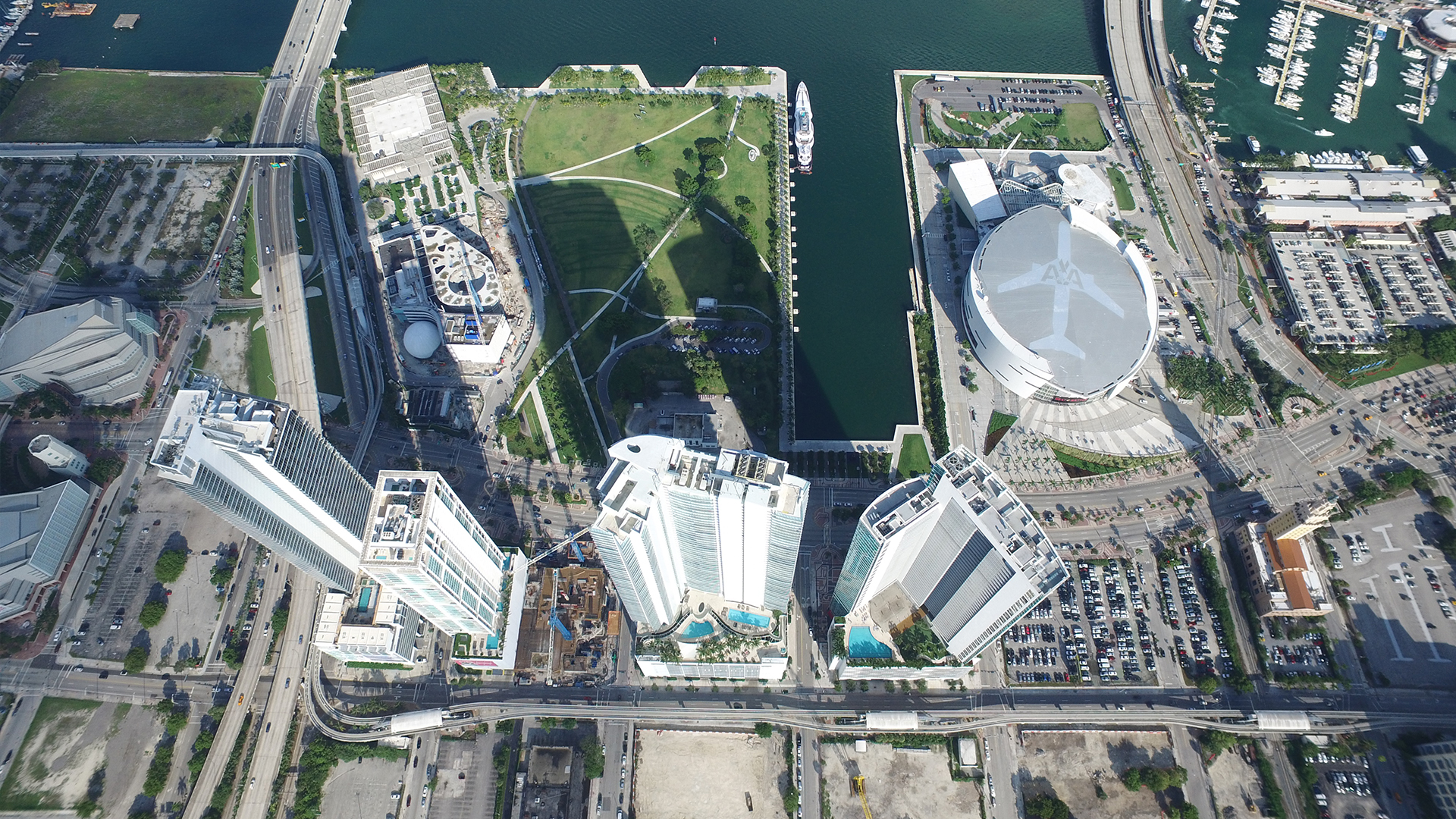 REAL ESTATE AERIAL VIEWS: MIAMI WORLDCENTER DOWNTOWN MIAMI