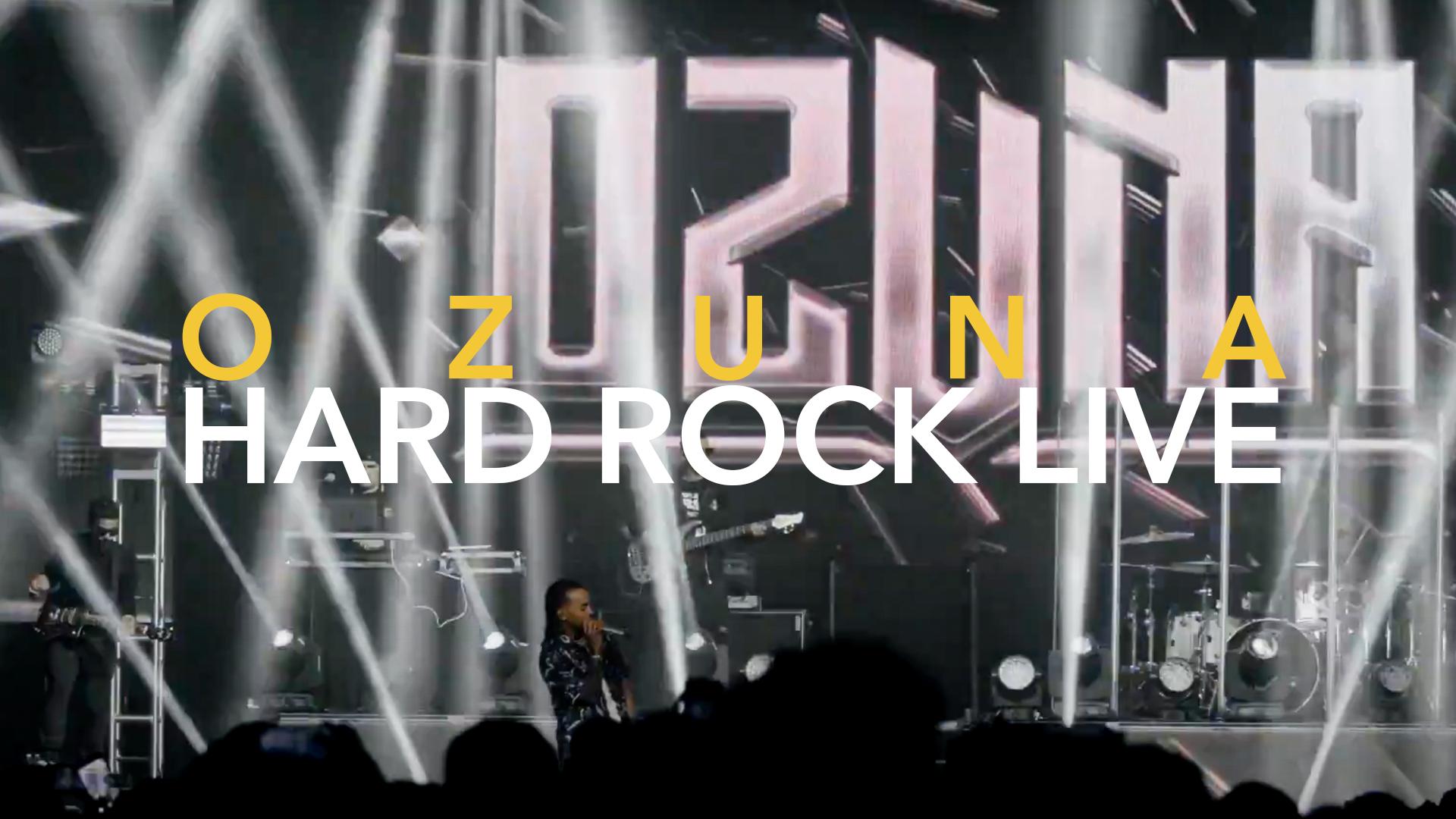 OZUNA PONE A CANTAR SUS FAN EN CONCIERTO HARD ROCK LIVE MIAMI